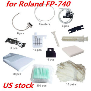 Us Stock Maintenance Kit For Roland Fp 740 100pcs Clean Swabs 6pcs Wiper Blade