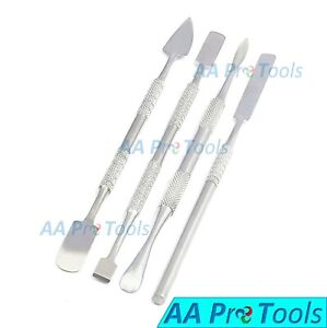 Metal Spatula 4 Piece Set Tools Dental Carver Wax Surgical Instruments