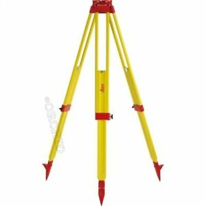 Leica Gst20 9 Wooden Tripod For Total Station Theodolite Level Laser New Kk