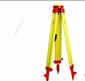 Heavy Leica Wooden Tripod For Survey Instrument Total Station Level New Yq