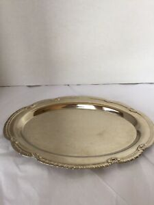 New Silver Plated Serving Tray Platter Jewelry Display Perfume Tray 9 5 Etched