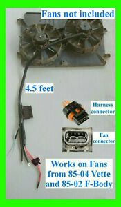 Ls1 2 Speed Electric Dual Fan Harness Relay Retrofit Upgrade Lsx Radiator Fans