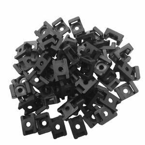 Black 4 5mm Width Cable Tie Base Saddle Type Mount Wire Holder 100pcs New