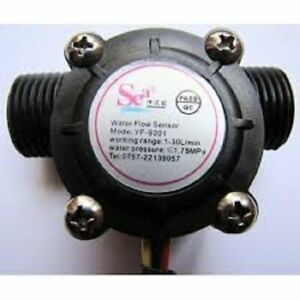 1 2 Water Flow Sensor Switch Hall Flow Meter Counter 1 30l min For Arduino