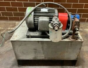 Lee Manufacturing 5hp Hydraulic Power Unit 30 Gal 230 460v Vickers Pump