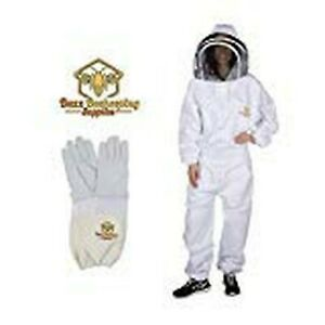 Buzz Beekeeping Supplies Professional Beekeeping Suit And Goatskin Gloves 1