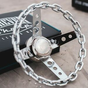 11 Chain Steering Wheel With Engraved Horn Button Chevy Gm Lowrider