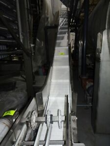 12 X 20 Stainless Steel Inclined Belt Conveyor