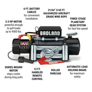 Badland Winch 9000 Lb Off Road Vehicle Winch W Auto Load Holding Brake