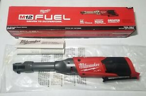 New Milwaukee M12 Fuel 1 4 Dr Extended Reach Long Ratchet Tool Only 2559 20