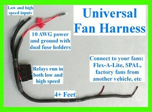 Usa 2 Speed Electric Dual Cooling Fan Harness Relay Ls1 Lsx Fans Fal Spal Derale
