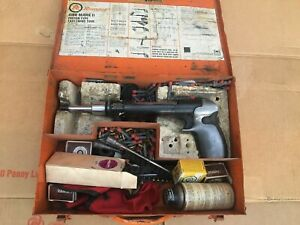 Olin Ramset 4160 Mark Ii Powder Actuated Tool Case And Accessories
