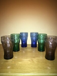 Vintage Coca Cola Coke Promo Glasses From McDonald's