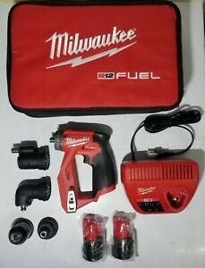 New Milwaukee M12 Fuel 4 in 1 Installation Drill Driver Multi tool Kit 2505 22