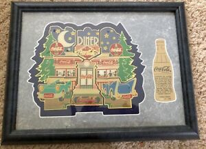 Coca-Cola 9 Pin Set 1950's Diner  #392 of Limited Edition Framed