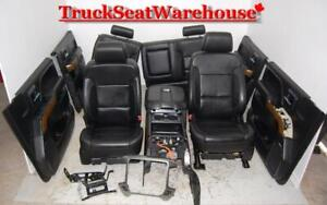 Chev Truck 2015 Silverado Ltz Gmc Sierra Black Leather Seats Door Pads Console