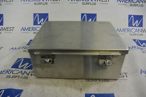 Hoffman A1008nfss Enclosure 4x Stainless 10x8x4 used