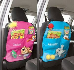 Personalized Car Back Seat Organizer Front Seat Storage Kids Pocket Auto Travel