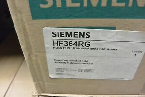 Hf364r Hf364rg Siemens 200 Amp 600 Volt Fusible 3r Outdoor Disconnect New