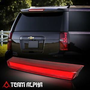 Fits 2015 2020 Suburban tahoe Chrome red led Bar rear Third 3rd Brake Light Lamp