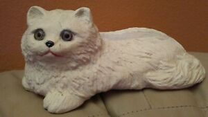 Vintage White Kitty Cat Business Card Holder Cat Love