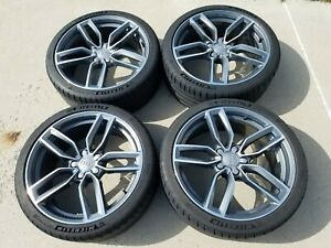 Audi Oem 19 Forged Wheels 8v S3 With Michelin Pilot Sport 4s Tires 235 35r19