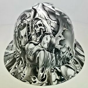 Full Brim Hard Hat Custom Hydro Dipped In Lust After Death Grim Reaper Sick