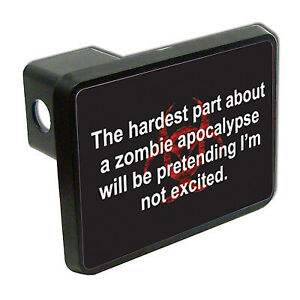 Zombie Apocalypse 2 Tow Trailer Hitch Cover Plug Car Truck Receiver Funny