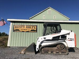 2015 Bobcat T450 Track Skid Steer Loader Skidloader 1278hrs Cheap Shipping Rates