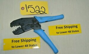 Ratchet Crimping Hand Tool W 58 And 59 Dies Wrench Clamps Electric Plumbing