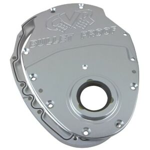 Cvr Tc2350cl Small Block Chevy Timing Cover Aluminum 2 piece Clear Anodized