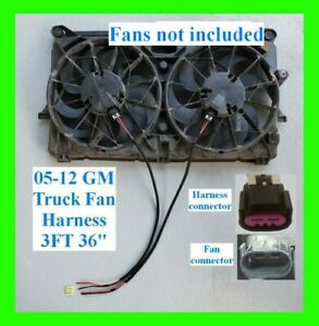 3ft 36 X2 Gm Chevy Truck 2005 12 Electric Fan Pigtail Connector Harness 10 Awg