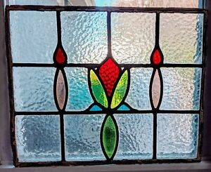 Antique Stained Glass Window Architectural Salvage 15 X 18 5