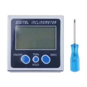 3x digital Angle Gauge Protractor Inclinometer Bevel Box Level Meter Angle M4s3