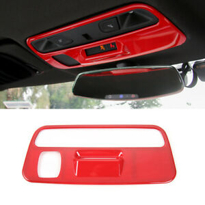 1 red Car Roof Reading Light Lamp Trim Cover For Chevrolet Camaro 2017 2019