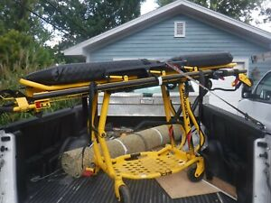 Stryker 6092 Ez pro R4 Ambulance Cot Stretcher Gurney W Cushion Seat Belts
