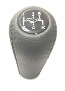 Gear Shift Knob Fits For Ford Mustang 1979 2004 Mt Genuine Leather 5 Speed
