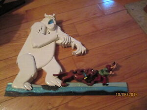 Scooby Doo Wooden Sculpture Hand Carved Signed Artist Beautiful Art Well Done