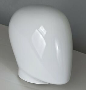 Mn ehm Glossy White Plastic Male Egghead Attachment For Forms And Mannequins