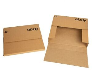 Ebay branded Boxes With Black Color Logo 12 5 x12 5 Flat Adjustable