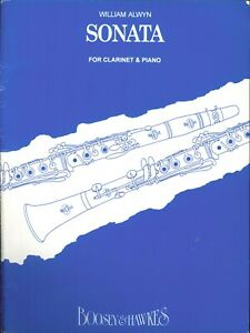 Alwyn Sonata Clarinet Piano Sheet Music 1963 Boosey amp; Hawkes #9410