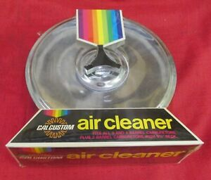 Cal Custom 9 Inch Chrome Round Air Cleaner Vintage In Perfect Factory Wrap