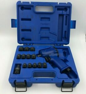 Cornwell Stubby Impact Wrench Set Blue Power Cat2138 With 8 19mm Sockets