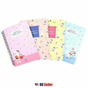 Sanrio Hello Kitty Floral Spiral Daily Planner Notebook Note Pad 4 Designs