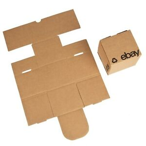 Ebay branded Boxes With Black Color Logo 4 x4 x4 Flat Folding
