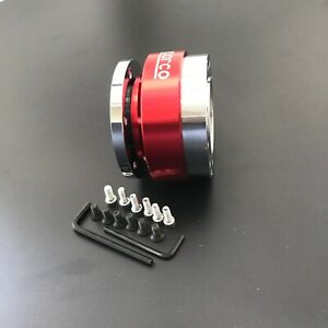 Red Steering Wheel Snap Off Ball Quick Release For 6 Hole Adapter Boss Kit Hub