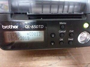Brother Ql 650td Pc Label Thermal Label Printer P touch