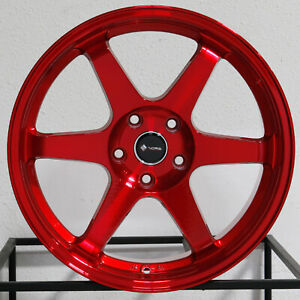 4 New 18 Vors Tr37 Wheels 18x8 5 18x9 5 5x114 3 35 35 Candy Red Staggered Rims