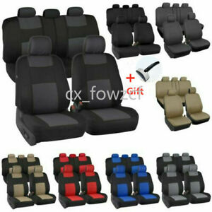 10pcs Auto Seat Covers For Car Truck Suv Van Universal Protectors Polyester