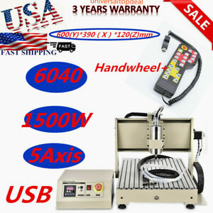 1 5kw 6040 5 Axis Cnc Router Engraver Engraving Drilling Machine 1500w Rc Us Us